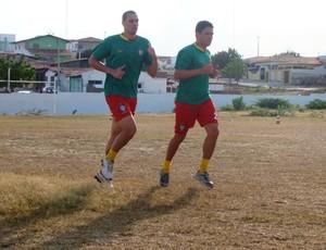 Marcello Galvão e Geovani, reforços do Santa Cruz-RN (Foto: Alex Santos/Divulgação)