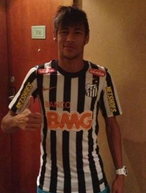 Neymar Santos nova camisa (Foto: Reprodução)