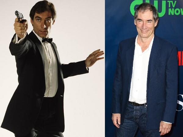 Timothy Dalton como James Bond nos anos 80 e hoje, aos 71 (Foto: Getty Images/Divulgação)