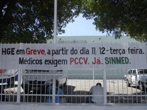 Médicos de Alagoas avisam que estão em greve (Foto: (Foto: Natália Souza/G1))