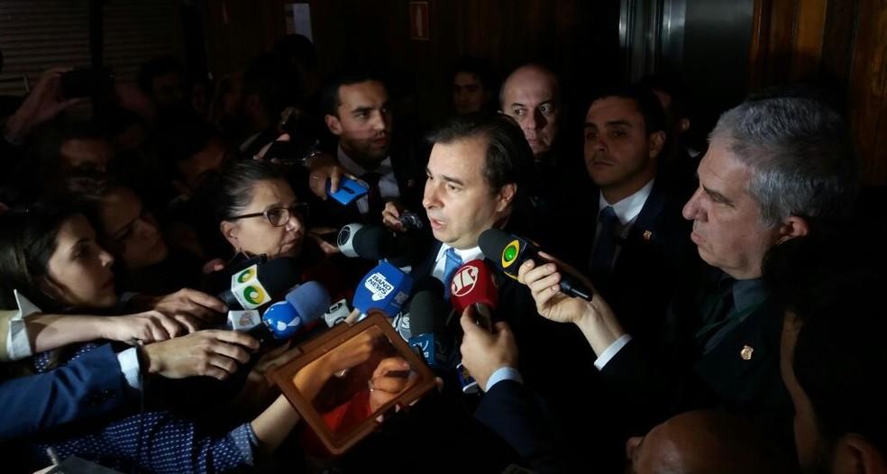 O presidente da Câmara, Rodrigo Maia (DEM-RJ) (Foto: Bernardo Caram/G1)