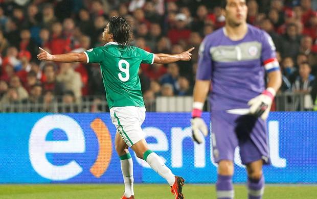 Marcelo Moreno gol Bolívia contra Chile (Foto: EFE)