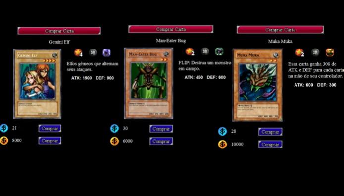 Essas são algumas das boas cartas para colocar em seu deck inicial de Yu-Gi-Oh Online (Foto: Reprodução/ Matheus Vasconcellos)