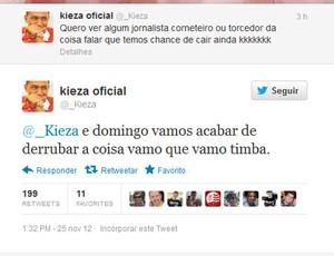Twitter Kieza Náutico (Foto: Reprodução / Twitter)