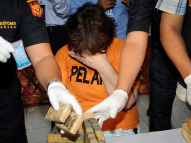Presa em 2012 ao tentar entrar com cinco quilos de cocaína da Indonésia, a britânica Lindsay Sandiford pode ser executada em 2015 (Foto: Getty)