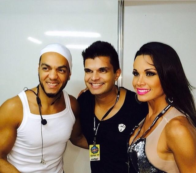 Cantor Belo, marido de Fernanda e a bailarina (Foto: Arquivo Pessoal)