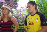 """Kayla Harrison e Mayra Aguiar falam de rivalidade no """"Sensei"""" de sábado"""