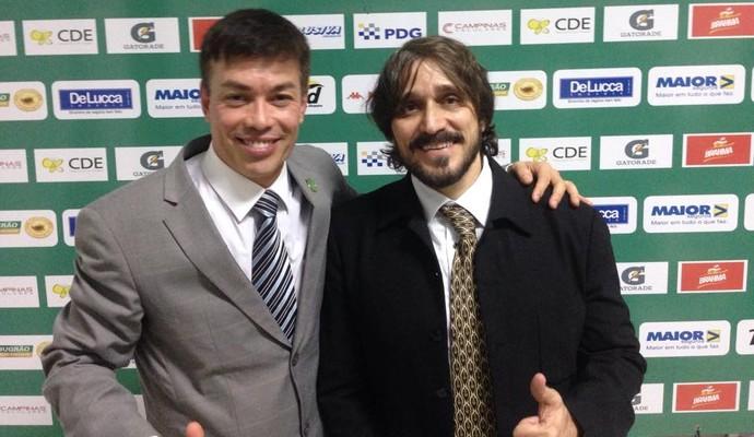 Horley Senna e Roberto Graziano dirigentes Guarani (Foto: Paulo Vitor / Guarani FC)