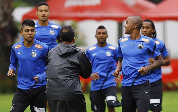 gabriel e victor andrade santos treino (Foto: Divulgação/Flickr Santos FC)