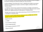 Temer diz que carta para a presidente Dilma Rousseff é um desabafo