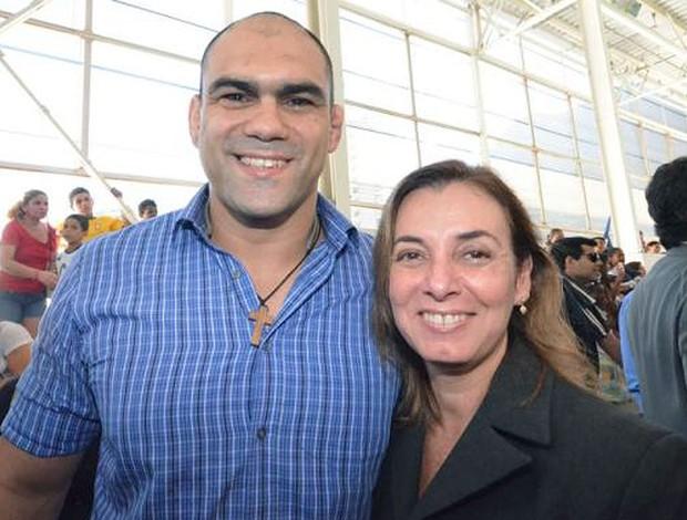 Antoine Jaoude luta olímpica e márcia lins (Foto: Divulgação)