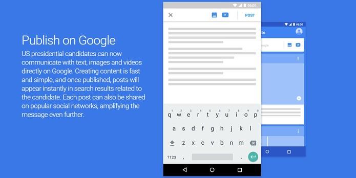 Ferramenta permite fazer postagens com textos, fotos e vídeos (Foto: Divulgação/Google)