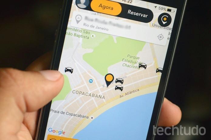 Cabify permite escolher rádio através do app (Foto: Marvin Costa/TechTudo)
