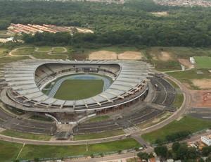 Vista aérea do estádio Olímpico do Pará, o Mangueirão (Foto: Fernando Araújo/O Liberal)
