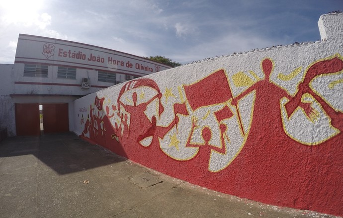 Estádio João Hora de Oliveira (Foto: Osmar Rios / GloboEsporte.com)