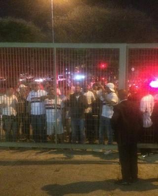 São Paulo x Botafogo protesto torcida (Foto: Marcelo Prado)
