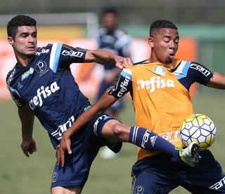 Egídio e Gabriel Jesus Palmeiras (Foto: Cesar Greco/Ag Palmeiras/Divulgação)