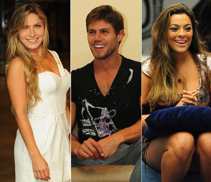 Triângulo amoroso Renata x Jonas x Monique (Foto: TV Globo)