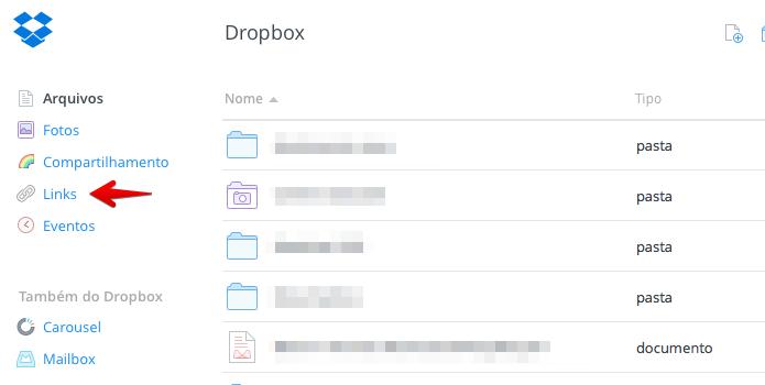 Acesse a sua conta no Dropbox e abra os links compartilhados (Foto: Reprodução/Helito Bijora)