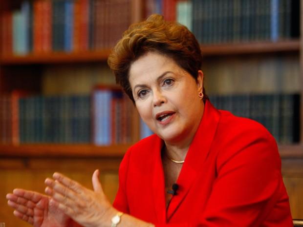 Dilma Rousseff em sabatina do jornal 'O Globo' (Foto: André Coelho/Agência O Globo)