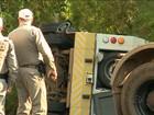 Quadrilha atravessou ônibus na pista para tentar assaltar carro-forte no RS