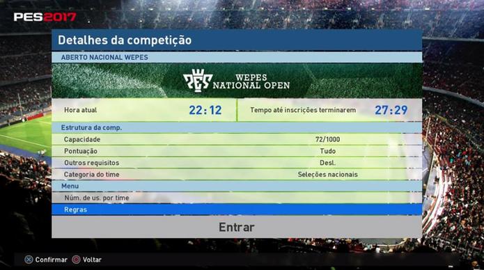 Como jogar as partidas ranqueadas dos torneios online de PES 2017 (Foto: Reprodução/Felipe Vinha)