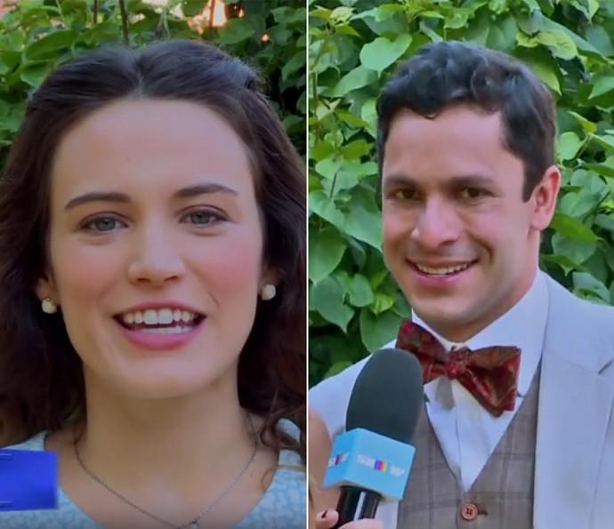 Bianca Bin e Rainer Cadete passam por 'Teste da Amizade' (Foto: Vídeo Show / TV Globo)