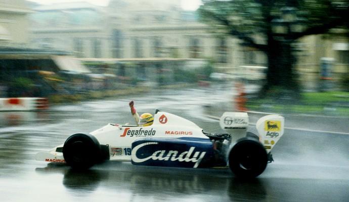 Ayrton senna toleman gp de Mônaco 1984 (Foto: Agência Getty Images)