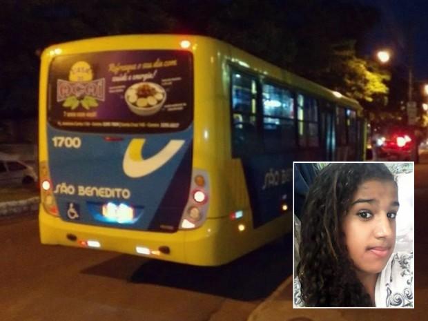 Adolescente coloca cabeça para fora do ônibus e sofre acidente em Machado (Foto: Reprodução EPTV)