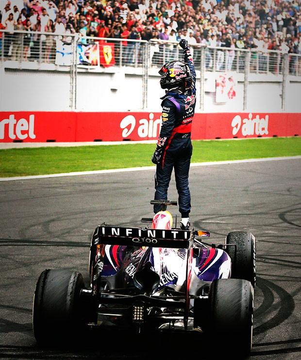 Vettel comemoração título GP da India (Foto: Reuters)
