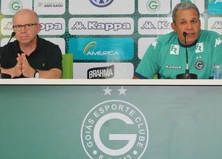 Hélio dos Anjos e Sérgio Rassi - Goiás (Foto: Fernando Vasconcelos / Globoesporte.com)