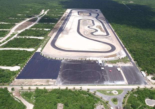 Traçado da pista do Autódromo Internacional de Yucatán Emerson Fittipaldi. (Foto: Divulgação/Obrasweb.mx)