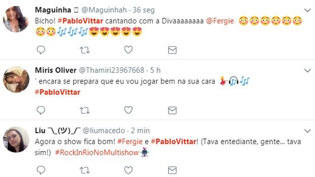 Pabllo Vittar e Fergie no Rock in Rio repercute na web (Foto: Reprodução)