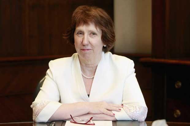 Catherine Ashton fala durante uma coletiva de imprensa no Cairo na segunda-feira (29) (Foto: Mohamed Abd El Ghany/ Reuters)