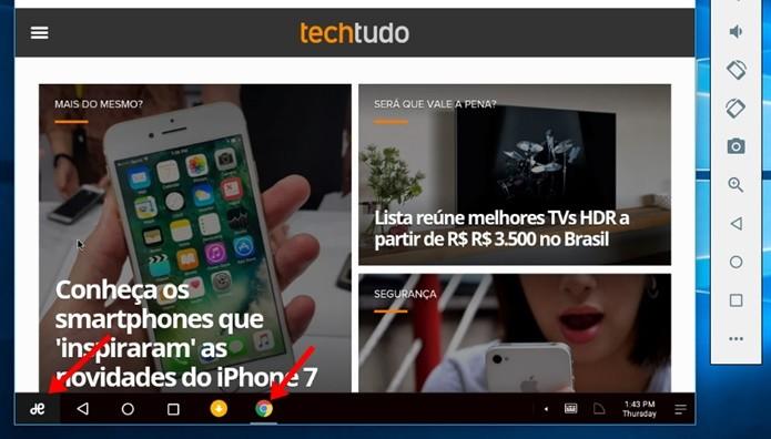 Use o Android 6.0 com apps em janelas dentro do Windows (Foto: Reprodução/Paulo Alves)