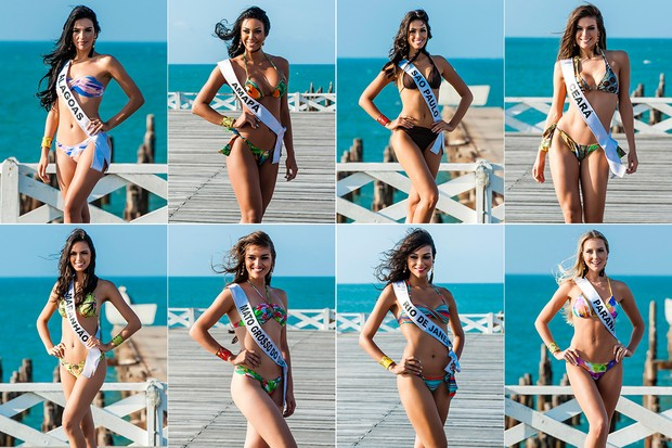 Candidatas a Miss Brasil (Foto: Lucas Ismael / Band)