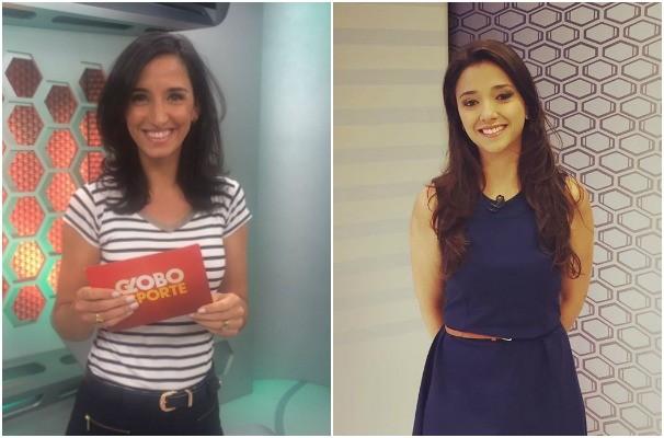 Alice Bastos Neves e Maíra Lemos apresentam juntas o Globo Esporte para RS e MG (Foto: Montagem sobre fotos/Gabriela Haas/RBS TV e Arquivo Pessoal)