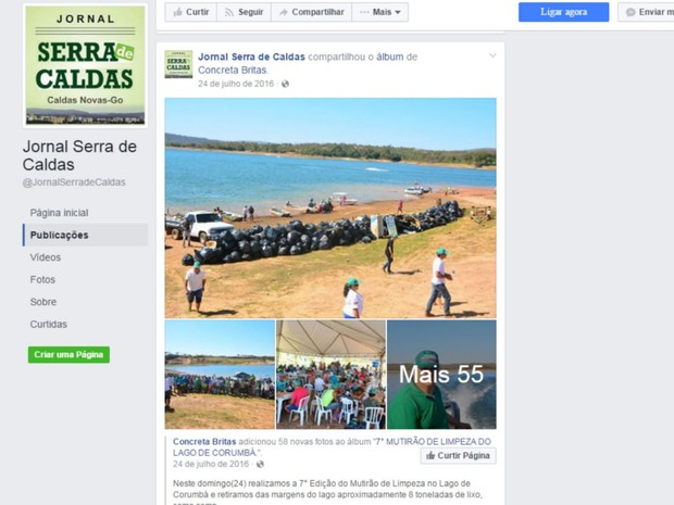 Evento investigado foi veiculado nas redes sociais do Jornal Serra de Caldas, em Goiás (Foto: Divulgação/MP-GO)