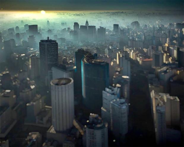 O Edifício Copan, em São Paulo, capturado pela lente de Claudio Edinger (Foto: Claudio Edinger)