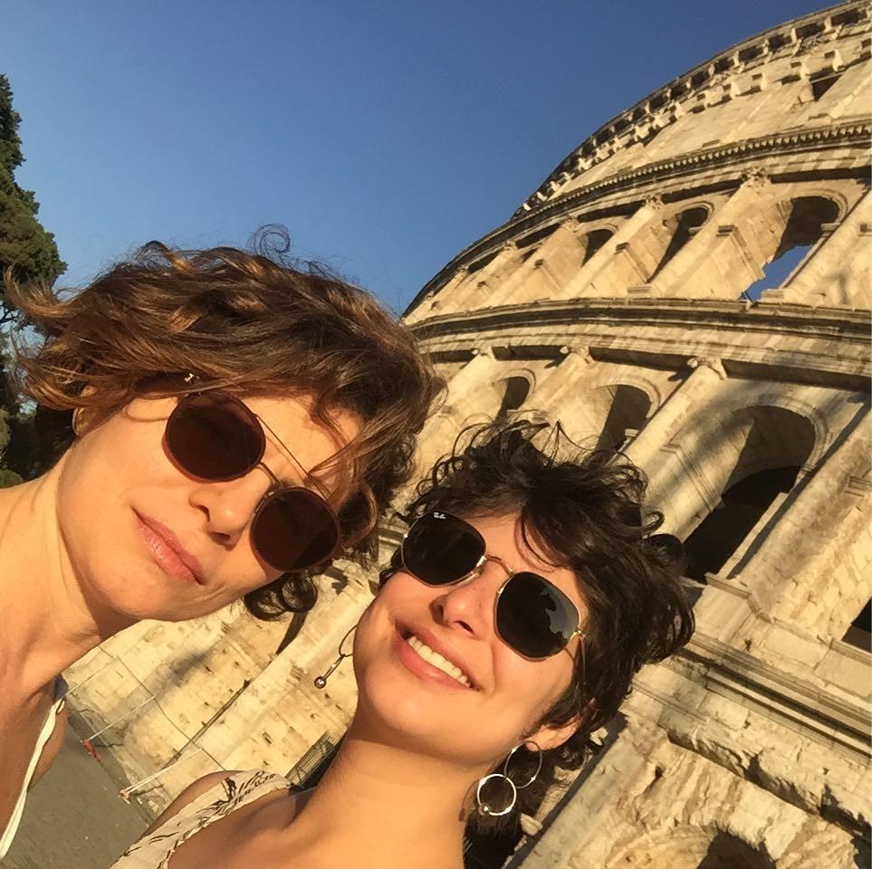 Débora Bloch com a filha Júlia (Foto: Instagram/Reprodução)