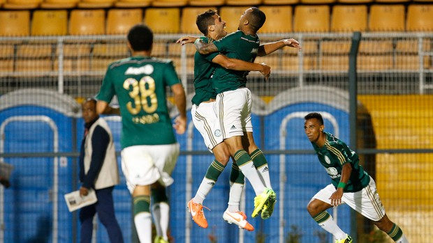 Wesley e Alan Kardec, Palmeiras x Bragantino (Foto: Mauro Horita)