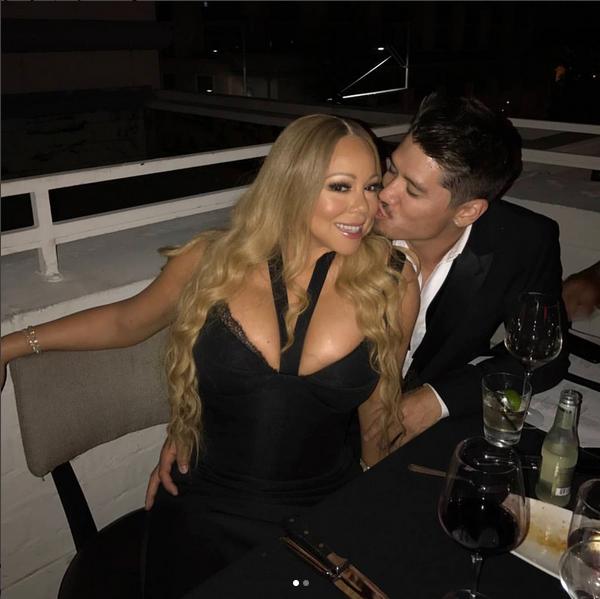 A foto de Mariah Carey com o namorado alvo de críticas na web (Foto: Instagram)