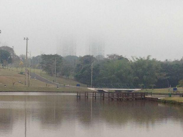 Parque das Nações, em Campo Grande, na manhã desta sexta-feira (Foto: Rodrigo Grando/ TV Morena)