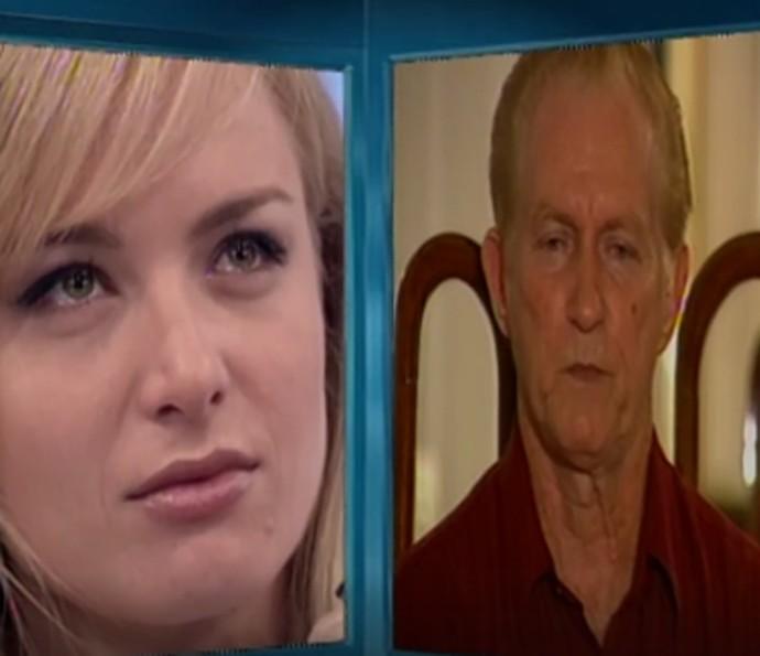 Angélica se emociona com depoimento do pai (Foto: TV Globo)