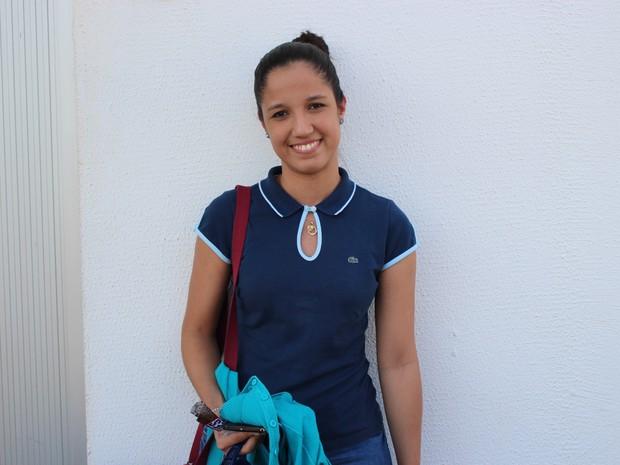 ENEM 2016 - DOMINGO (4) - TERESINA (PI) - Mariana Gamosa comemora tempo a mais para estudar (Foto: Wenner Tito/G1)