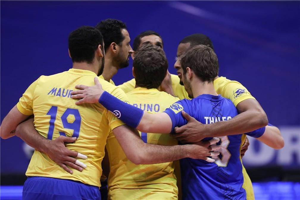 Brasil fechou a primeira fase da Liga Mundial atrás apenas da França (Foto: FIVB)