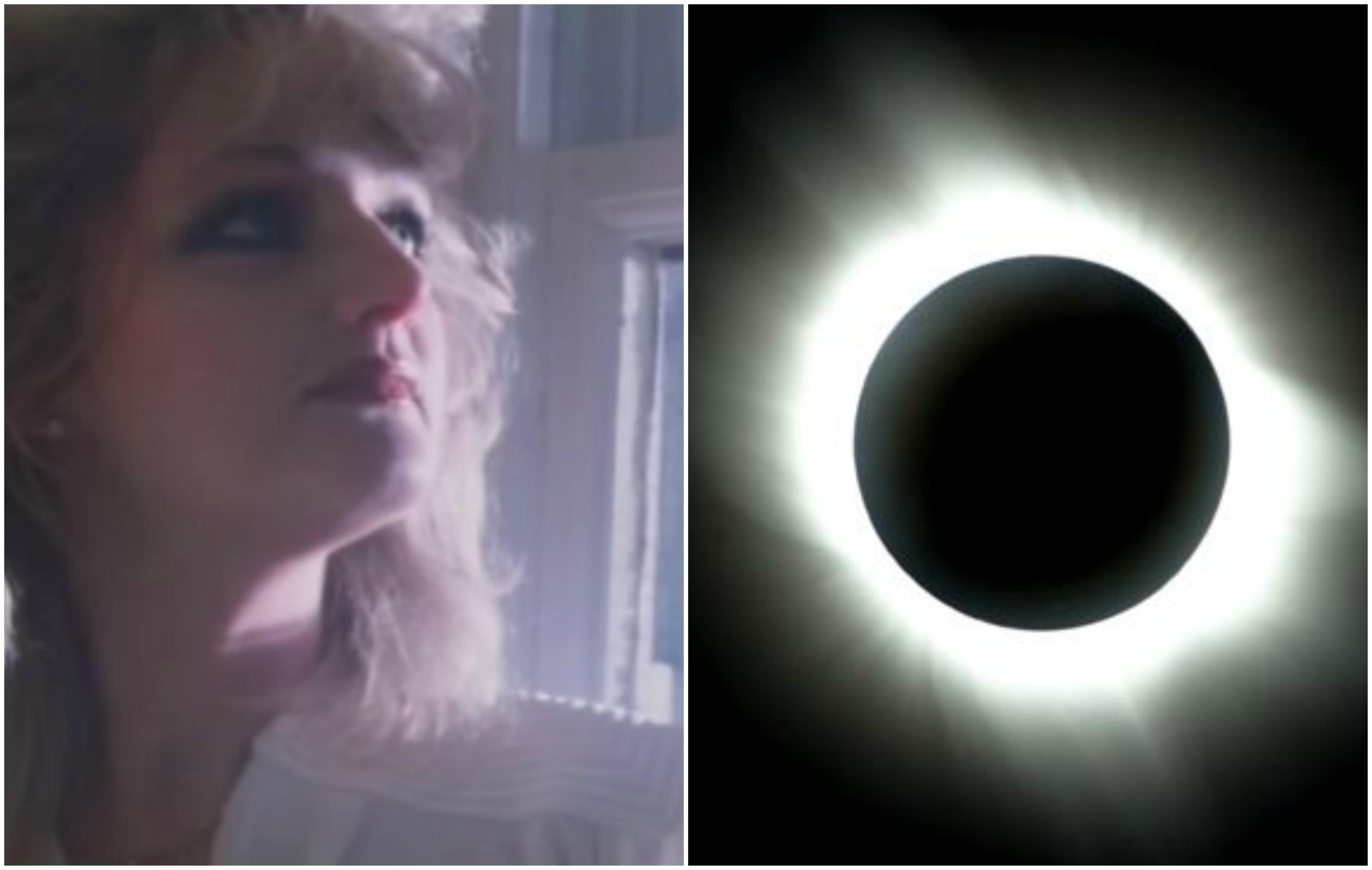 Eclipse total do Sol fez com que downloads de single de Bonnie Taylor crescessem mais de 500% em uma semana (Foto: Reproduo/Twitter)
