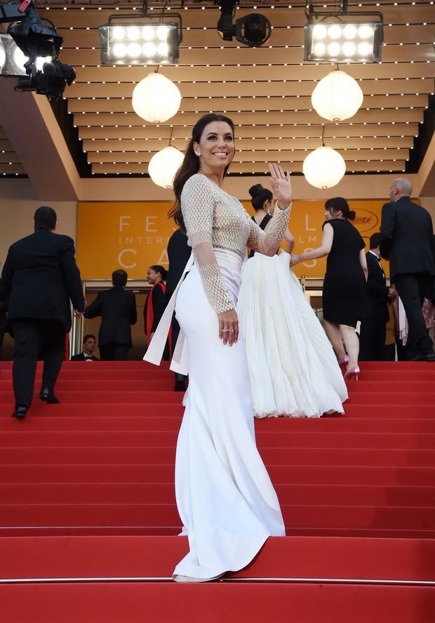 Eva Longoria na abertura do Festival de Cannes (Foto: AFP)