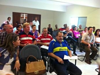 Cubanos passam por treinamento do 'Mais Médicos' (Foto: Pollyana Araújo/ G1)