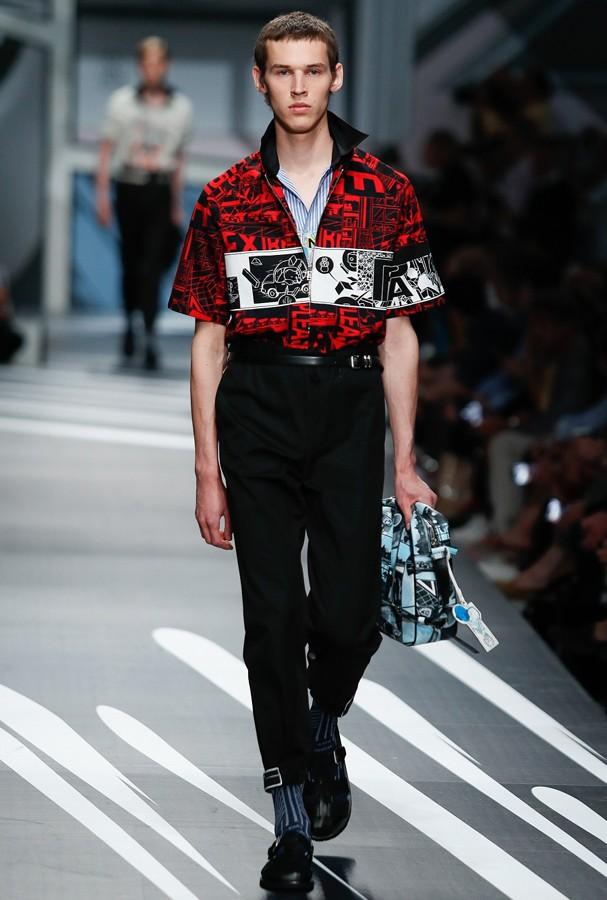 Prada desfila coleção masculina primavera-verão 2018  (Foto: Divulgação)